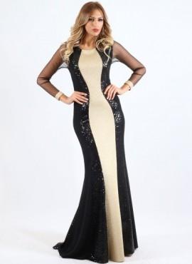 sefora- abiti cerimonia online collezione 2016  sirena bicolore