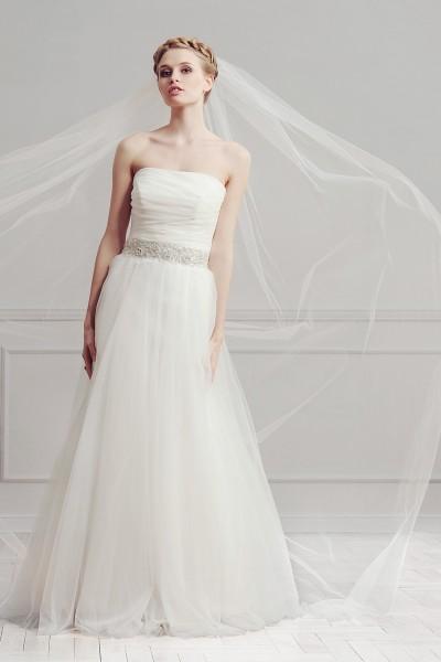 carle- abito da sposa a-line 2016 tessuto organza  pizzo