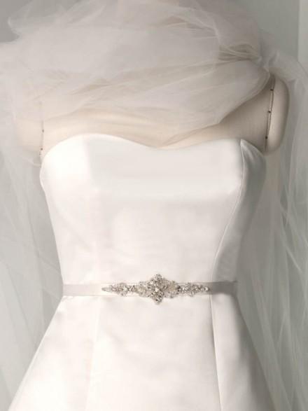 cintura abito sposa economica raso con diamantini