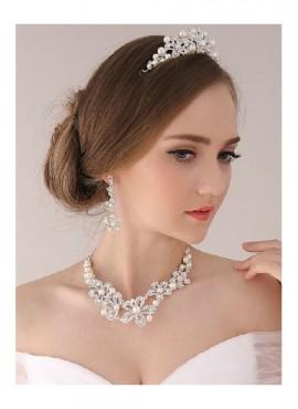 collana orecchini diadema sposa online perle