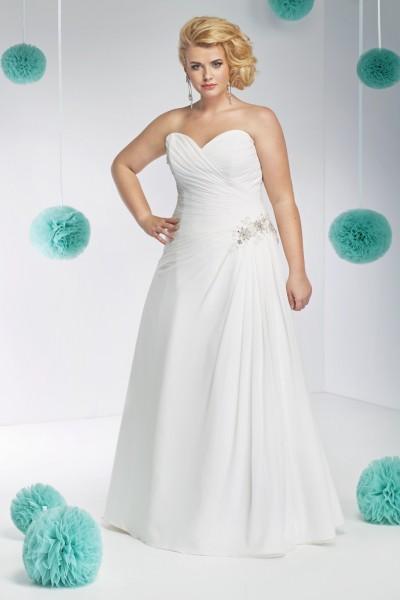 cristina- abito sposa taglie forti modello a-line tessuti  raso