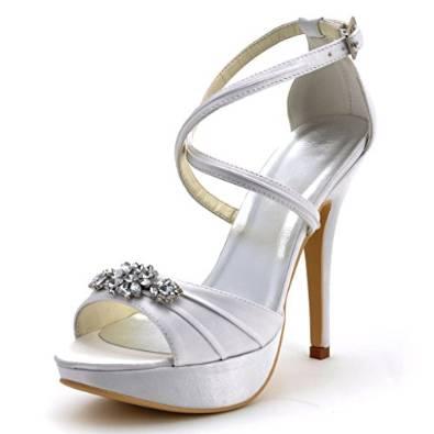 sandali da sposa online economici spuntate con strass