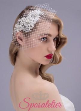 Veletta Sposa  online a rete con Punti luce e Perline