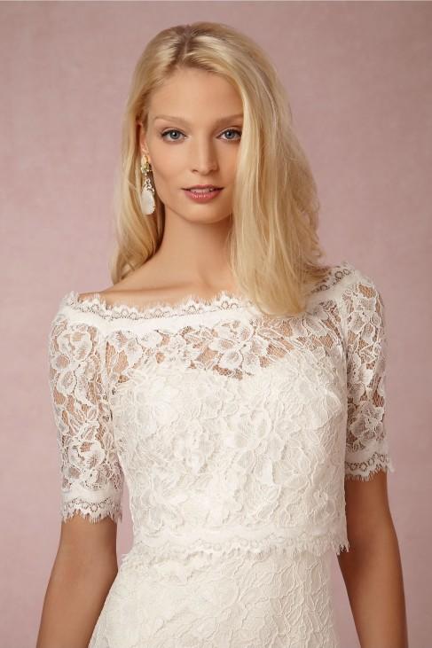 brand new 74d73 adde6 Coprispalle per abito da sposa online realizzato in pizzo