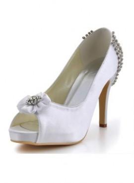 Scarpe da Sposa online economiche con catena di strass