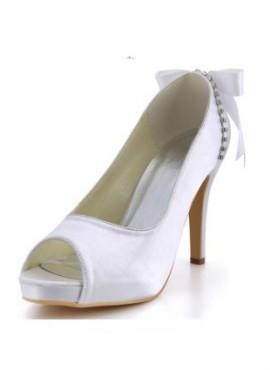 Scarpe da Sposa online economiche con fiocco posteriore