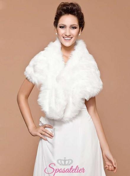Coprispalle pelliccia sposa online economica