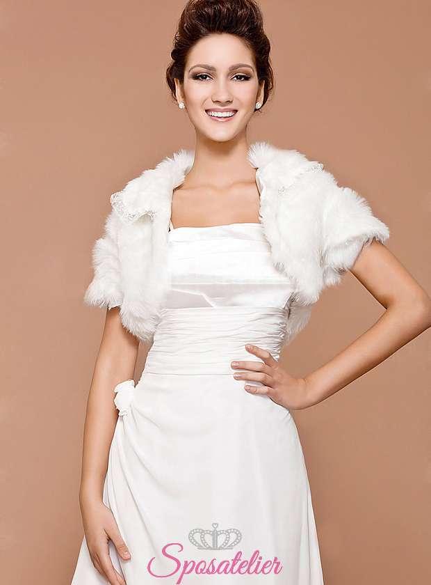 online store 7be15 ce07f Pelliccia bolero sposa online elegante ecologica