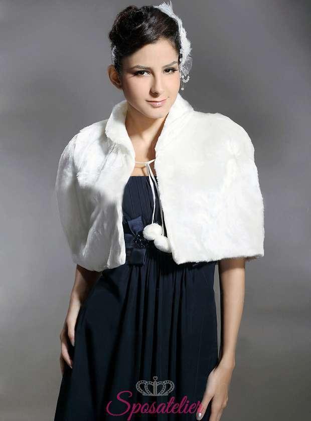 online retailer edf2f 7da56 Mantella di pelliccia sposa online economico matrimonio invernale