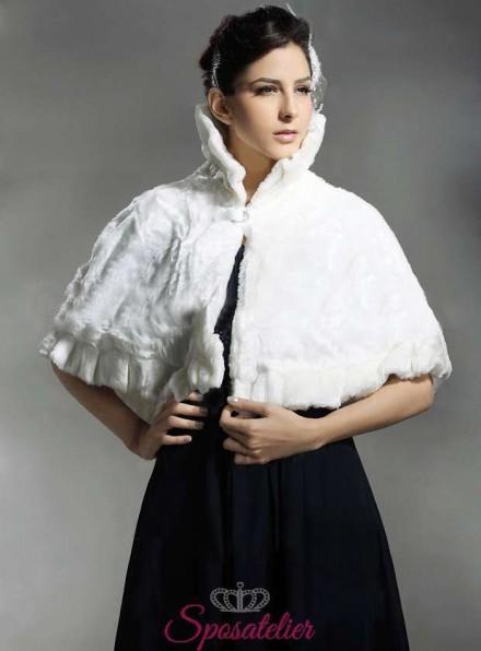 Mantellina sposa in pelliccia online economico