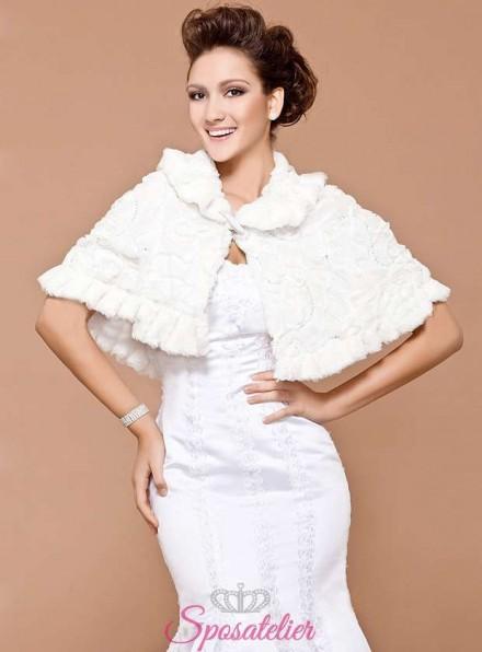 Mantellina sposa donna in pelliccia online economico