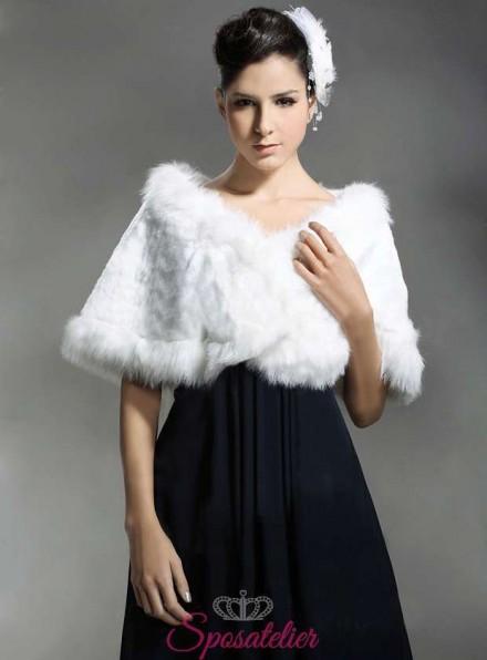 scialle in pelliccia sposa online economico