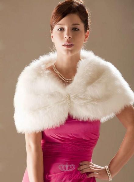 Coprispalle sposa di Pelliccia vendita online economica