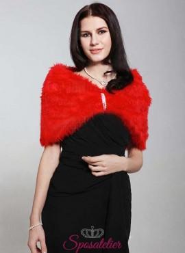 Pelliccia sposa rossa vendita online matrimonio invernale
