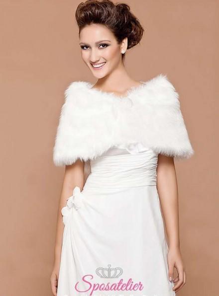Pelliccia sposa online economica matrimonio invernale