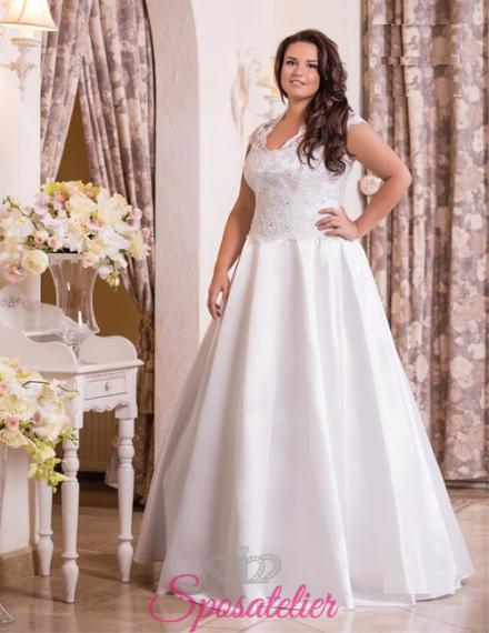 Agnesse-vendita abiti da sposa taglie comode online