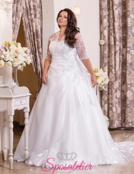 Sheron-vendita abiti da sposa curvy online economici