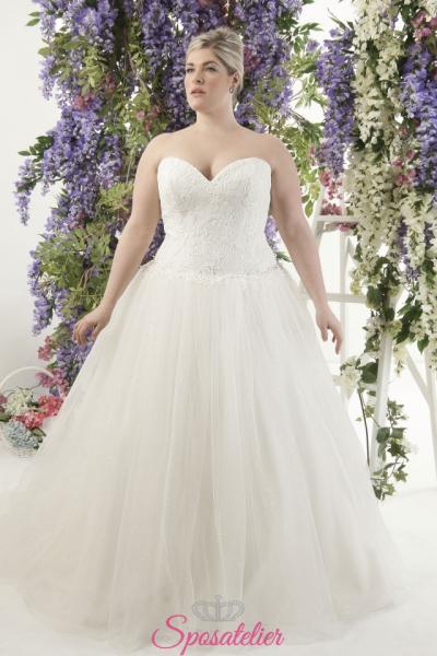 Dalika- abiti da sposa taglie forti online Italia vendita abiti sposa donne formose