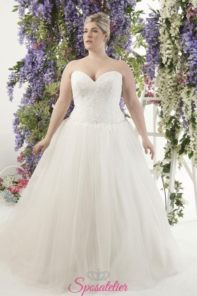 Favorito Dalika- abiti da sposa taglie forti online Italia vendita abiti  WK04