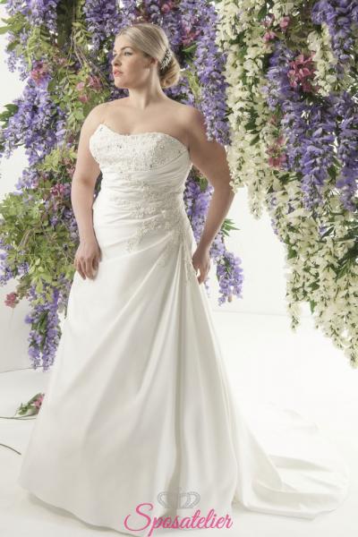 Nikkia- abiti da sposa taglie forti online Italia vendita