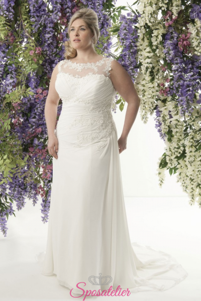 Sciarlize- abiti da sposa taglie forti online Italia vendita