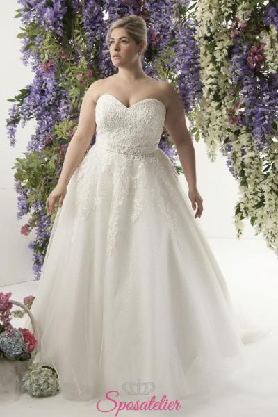 Demetria- abiti da sposa taglie forti online Italia vendita