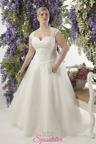 Amy- abiti da sposa taglie forti online Italia vendita