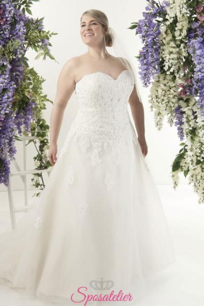 Amee- abiti da sposa taglie forti online Italia vendita