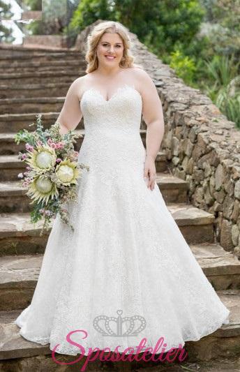 Maddison- abiti da sposa taglie forti online Italia vendita