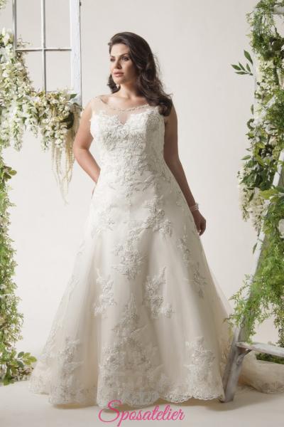 bologna- abiti da sposa taglie forti online economici Italia vendita
