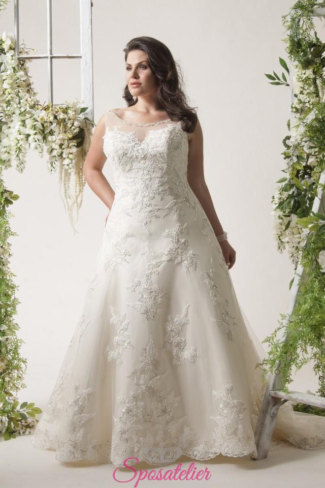 519d99bcba58 bologna- abiti da sposa taglie forti online economici Italia vendita