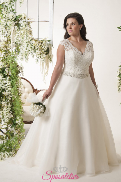 siracusa- abiti da sposa taglie forti online economici Italia vendita