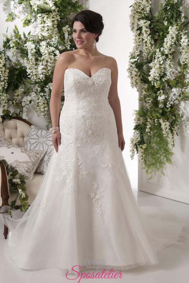newest collection aee5c 83126 brescia- abiti da sposa taglie forti online economici Italia vendita