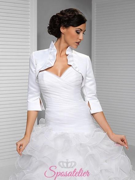 vendita online Coprispalle abito da sposa economici offerta tessuto raso
