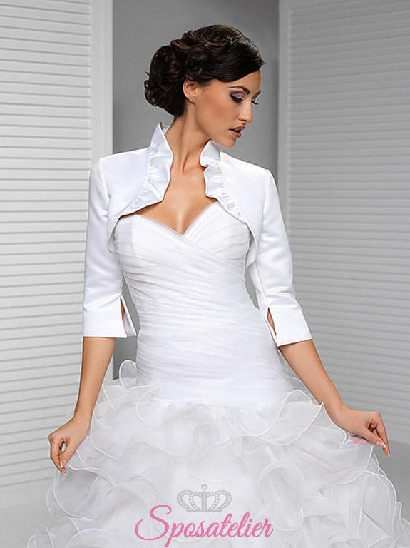 online store 8540a 5a1bc vendita online Coprispalle abito da sposa economici offerta tessuto raso