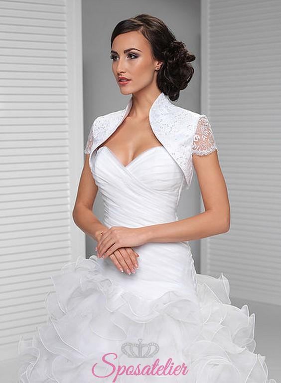 9d4c01f59f64 vendita online bolero abito da sposa economici offerta tessuto raso