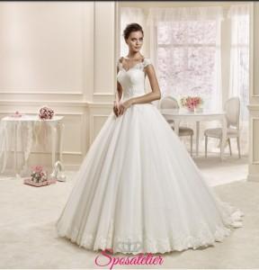 arya- abito da sposa online scollo barchetta taglio principesco Italia