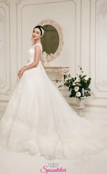 elodina- vendita online Abiti da Sposa economici ampi e principeschi