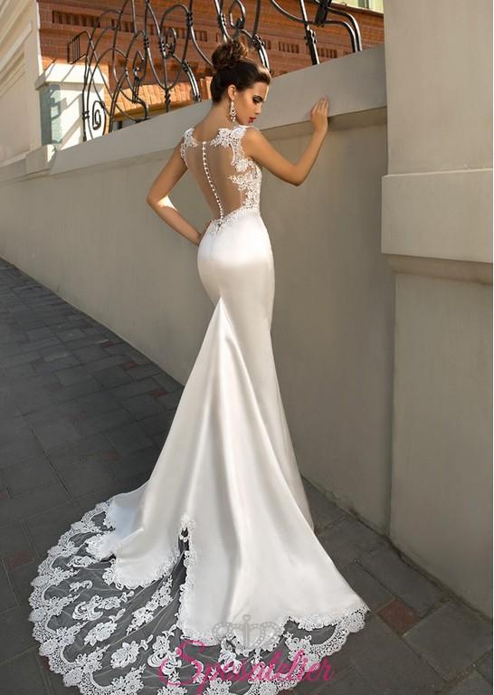 Vestiti Da Sposa Schiena Scoperta.Ninah Abito Da Sposa Sirena Con Schiena Scoperta Ricamato Online