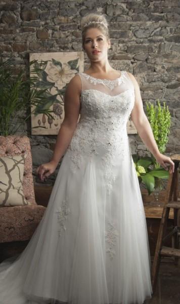CELINE-abiti da sposa 2016 taglie comode su misura