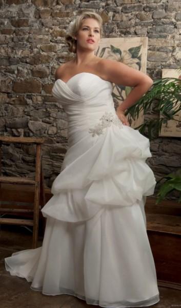TRELINE-abiti da sposa 2016 taglie comode su misura