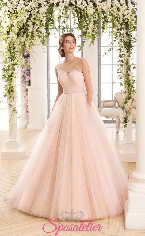 Abiti da sposa rosa on line
