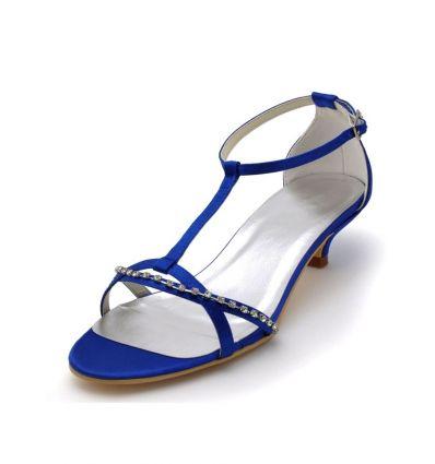 Scarpe Sposa Blu.Scarpe Sposa Blu Online Economiche Italia Tacco Bassosposatelier