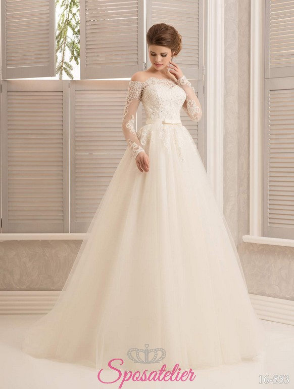 1fd9e6913545 onia-Radioso abito da sposa in stile principessa a vita altaSposatelier