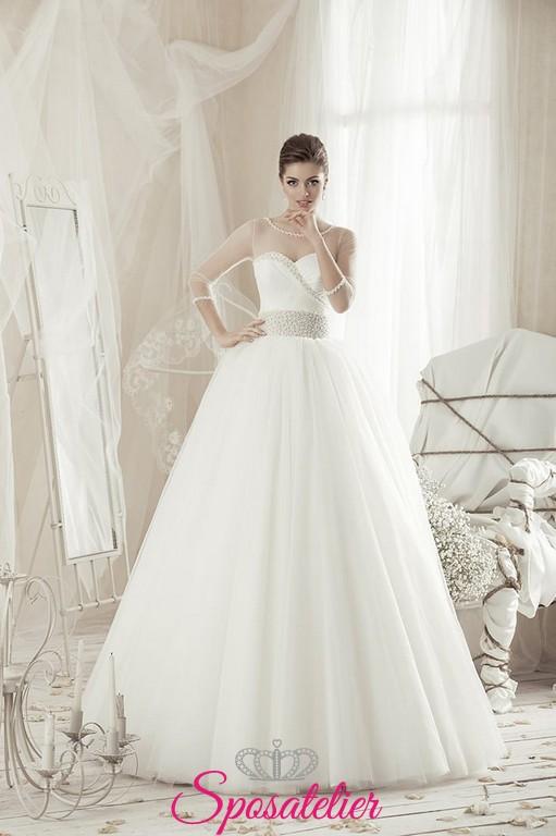 bOriva,Vestiti da sposa online Italia palloncino stile romantico ampio