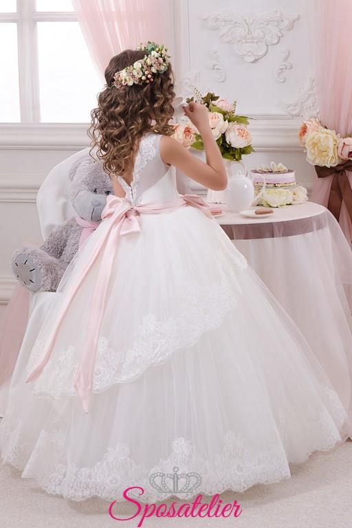 nuovo prodotto modellazione duratura rivenditore online bernarda-abiti damigella bambina economici principessa con fiocco