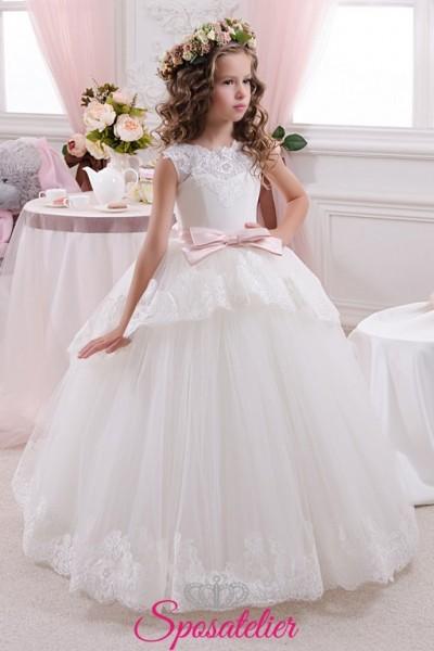 bernarda-abiti damigella bambina economici principessa con fiocco