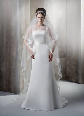 Abito da sposa in raso modello impero