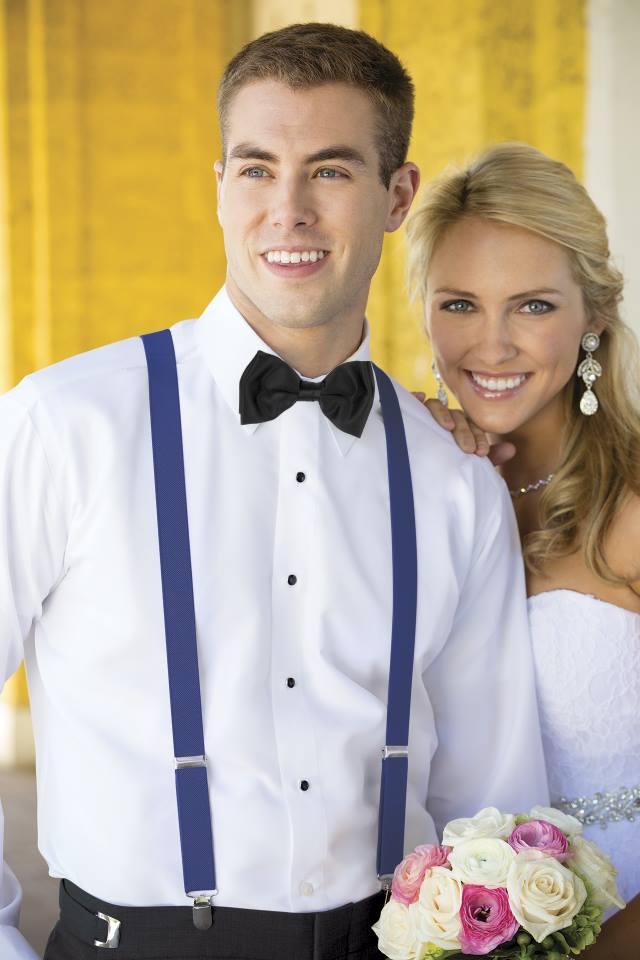 Matrimonio Elegante Uomo : Bretelle uomo matrimonio sposo elegante blu economiche