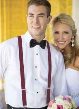 bretelle sposo uomo matrimonio elegante bordeaux online